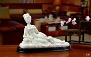 Chinese White Porcelain Pottery Women Girl Imperial Concubine Drunkenness Statue