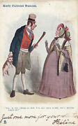 Early Victorian Humour 1904 Man Holding Puppy, Woman Looks Shocked Tuck 1743