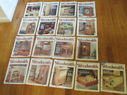 Woodsmith Magazine 17pc Lot Issues 118-122 124-133 Freeship Excellent Cond D2r