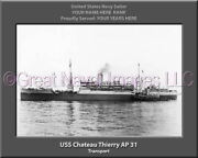 Uss Chateau Thierry Ap 31 Personalized Canvas Ship Photo Print Navy Veteran Gift