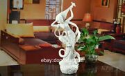 Chinese White Glaze Dehua Porcelain Pottery Dunhuang Fairy Maiden Pipa Sculpture