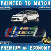 New Painted To Match Front Bumper Cover Fascia For 2013-2016 Ford Escape W/ Park