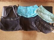 Thirty One 31 Gifts Suite Skirt Purse Black Base And 4 Extra Skirts