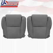 Fits 2007-2013 Toyota Tundra Bottoms Gray Leather Seat Cover W/ Extra Seam