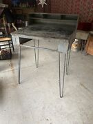 Hostess Stand Restaurant Hostess Stand As Is Or With Hairpin Legs Raw Industrial