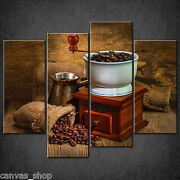 Kitchen Vintage Coffee Grinder Cascade Canvas Print Wall Art Ready To Hang