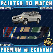 New Painted To Match Front Bumper Cover Fascia For 2008-2010 Jeep Grand Cherokee