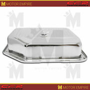 Fits Chevy Gm Turbo Th-350 Steel Transmission Pan Deep Sump Chrome