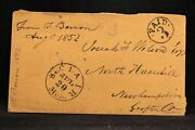 Michigan St Clair 1852 Stampless Cover Black Cds And Circled Paid 3