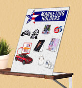 8.5andrdquow X 11andrdquoh Sign Holder Literature Advertise Frame Slant Back Table Qty 500