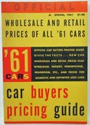 1961 Cars Official Wholesale And Retail Prices Spring Cadillac Olds Buick Ford