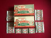 1951 Topps Baseball Card Display Box Cover And 7 Wrappers Scarce / Vintage