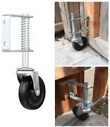 4 Spring Loaded Rubber Wheel Gate Caster Gate Support Wood/chain Link Fences