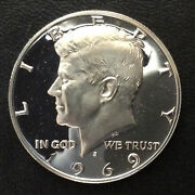 1969-s Kennedy Half Dollar Silver Frosted Proof U.s. Coin A5215