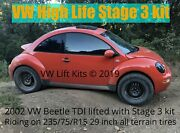 Lift Kit Vw New Beetle Stage 3 Suspension W/ Rally Skid Plate Vw Mk4 1998-2010