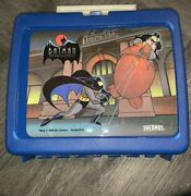 New Vintage Batman Lunchbox, Thermos Brand, Thermos Included, 1993- Blue