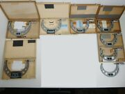 8pc Lot Of Tesa Brown And Sharpe Micrometer 125---225mm Toolmakers Package