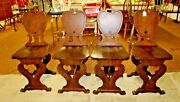 Dining Room Chairs 1940's Imperial Furniture Co. Antique Unusual Set Of 4