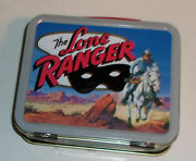 The Lone Ranger Colorful 2001 Metal Mini Lunch Box - No Thermos Great Graphics