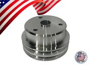 Sbc Small Block Chevy Crank Pulley V-belt Double Groove 305 327 350 400 Lwp