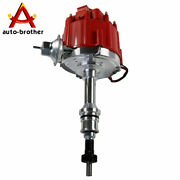 Red Cap Hei Ignition Distributor W/65k Coil Sbf For Ford Small Block 260 289 302