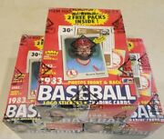 1983 Fleer Baseball Wax Box 36 Sealed Packs Fresh From Case Bbce Authentic