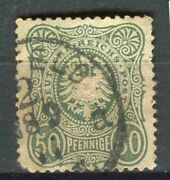 Germany 1877 Early And039pfennigeand039 50pf. Issue Used Shade + Fair Postmark
