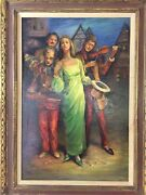 Ginna Baldwin Medley For Six Pence Large Original Oil Painting On Canvas Sign