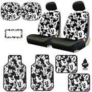 For Kia New Mickey Mouse 14pc Car Seat Covers Floor Mats And Accessories Set