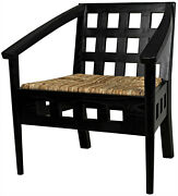 29 W Set Of 2 Sia Occasional Chair Modern Contemporary Solid Wood Woven Rattan