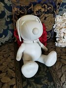 Nwt Coach X Peanuts Medium Collectible 13and039 White Leather Snoopy Doll Limited