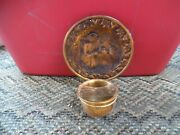 Coppercraft Guild Copper Plate And Candle Holder