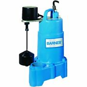 Barnes Sp50vfx - 1/2 Hp Cast Iron Sump Pump W/ Vertical Float Switch 20and039 Cord