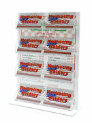 8 Pocket Business Card Holder Organizer Acrylic Bottom Load Counter Top Qty 24