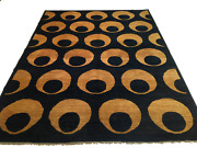 6.6 X 8.9 Hand-knotted Contemporary Eye-ball Design 100 Wool Rug Szm-8-8-44