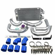Cxracing Front Mount Aluminum Intercooler Kit + Bov For Nissan Rb20 Rb25 S13 S14