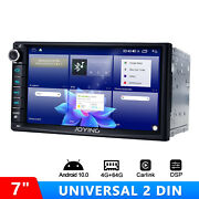 7 Lcd Touchscreen Double Din Bluetooth Car Stereo With Android 10 Octa Core Bt