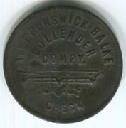 New Mexico, Ft. Wingate - 1891-93 W.f.m. Post Trader 12c Bbc Token