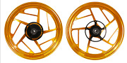 Forged Aluminum Alloy Wheels Yzf-r3 Mt-03 Abs 15-2019 Glossy Golden 5 Spokes