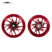 Forged Aluminum Alloy Wheels Set For Yamaha X-max 2017-2019 Glossy Red