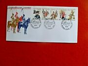 Colonial Military Uniforms 1985 Strip Of 5 Stamps First Day Cover Sydney Fdi Pm
