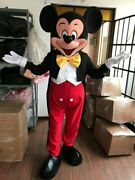 New Profes. Mickey Or Minnie Mouse Red Or Pink Mascot Costume Party Costume