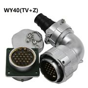 Wy40 Tv+z 5pin-31pin Elbow Double Pressure Plate Cable Plug Square Flange Socket