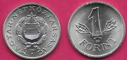 Hungary 1 Forint 1982bp. Unc Star Above Shield Within Wreathleaves Flank Denomi