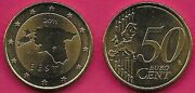 Estonia 50 Euro Cent 2011 Bu Map Of Estoniarelief Map Of Western Europestarsl