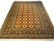6.6 X 9.3 Hand Knotted Handmade Pre-owned Tribal Turkish 100 Wool Rug Szm-1224
