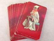 16 Vintage 1950s Mid Century Graduate Pinup Girl Painting Playing Trading Cards