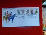 Colonial Military Fdc Strip 5 Stamps Brisbane Special Postmark