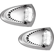 Attwood Marine 6522ss7 Led Docking Lights Stainless Steel White Pair