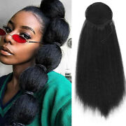 Drawstring Afro Puff Kinky Straight Ponytail Chignon Updo Clip In Hair Extension